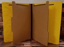 Yellow Classification Folders - 6-Part (100 per box)