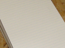 White Ruled 5x8 Writing Pads, 30 Pads (50 Sheets per pad) FREE SHIPPING