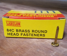 Labelon 84C Brass Round Head Fasteners - FREE SHIPPING