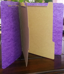 Genuine Purple Classification File Folders - 6 Part (100 per box)