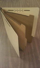 Genuine Maple Classification Folders - 6-part (100 per box)