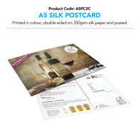 A5 Silk Postcard Double-Sided Colour (personalised inc. 2nd class postage)