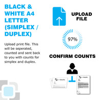 This option separates multiple letters with multiple pages in your print file. For example  if you have two types of letters in your file, one a single sided letter and one a double sided letter all mixed together. This can be separated so that all single sided are together and all double sided are together. You will then receive counts of how many single sided letters there are in your print file and how many double sided letters there are. These will then be separated into two files and you will be given the counts so that you can then put through the single sided and double sideded letters online (using product DMLETT1 for single sided and product DMLETT2 for double sided) using the counts emailed to you from this service.  This will help work out the most efficient cost for you to print and post these items as well as saving you time and work.     Postage and printing not included