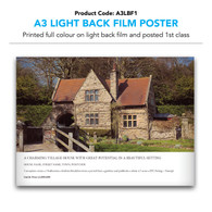 A3 Light Back Film Poster (inc. 1st class postage)