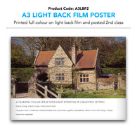 A3 Light Back Film Poster (inc. 2nd class postage)
