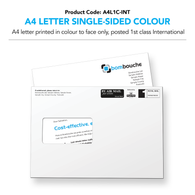 A4 Letter Single-Sided Colour (personalised inc 1st Class International)