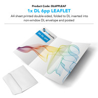 DL6PPLEAF - DL 6pp Leaflet into DL Envelope (personalised inc. 2nd class postage)