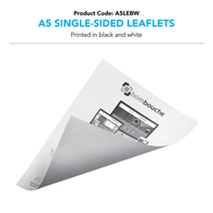 A5 Leaflets black and white (Single/Double-Sided)