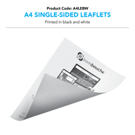 A4 Leaflets black and white (Single/Double-Sided)