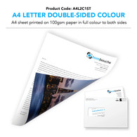 A4 Letter Double-Sided Colour (personalised inc. 1st class postage)