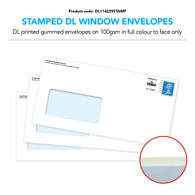 Stamped Envelopes DL Window for Mailing (Gummed) Citipost Version (Priced per 1000)