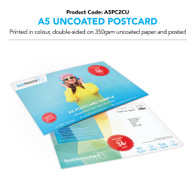 A5 Uncoated Postcard Double-Sided Colour (personalised inc. 2nd class postage)
