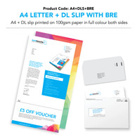 A4 Letter Double-Sided Colour + DL slip + DL BRE Envelope (personalised inc. 2nd class postage)