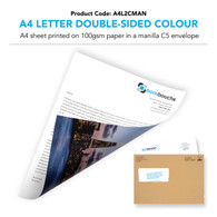 A4 Letter Double-Sided Colour in a manilla envelope (personalised inc. 2nd class postage)