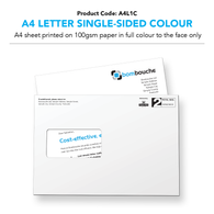 A4 Letter Single-Sided Colour (personalised inc. 2nd class postage)