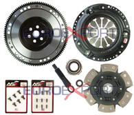Honda D Series Competition Clutch Lightweight Steel Flywheel + Stage 4 Clutch Kit 1