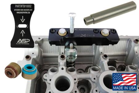 Mitsubishi 4G63 Valve Spring Compressor, Cam Lock, Pusher, and Valve Seal Kit