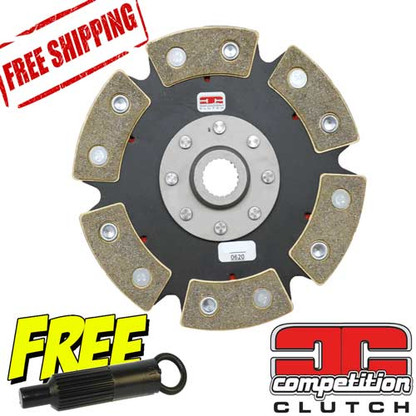 Honda D16 D15 Ceramic 6 Puck Solid Disc Competition Clutch