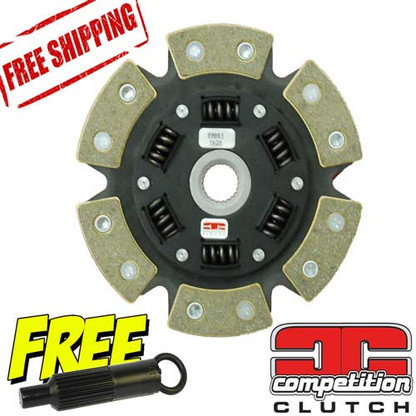 Honda Acura K20 K24 Ceramic 6 Puck Sprung Disc Competition Clutch