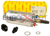 Genuine Bosch 044 Universal Inline Fuel Pump with -6AN Inlet -8AN Outlet