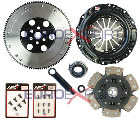 Honda D Series with B Series Transmission Competition Clutch Lightweight Steel Flywheel + Stage 4 Clutch Kit 1