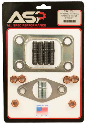 T03 TURBO MANIFOLD and 35/38mm WASTE GATE GASKET KIT 10 x 1.25mm BOLTS