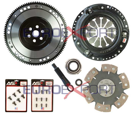 Honda D Series Competition Clutch Lightweight Steel Flywheel + Stage 4 Clutch Kit
