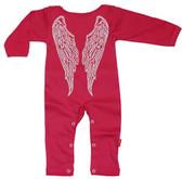 Punk Rock Long Sleeve Baby Romper: Angel
