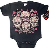 Punk Rock Baby Onesie or Toddler T-Shirt: Sugar Skulls