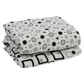 Muslin Blanket: Black & Gray