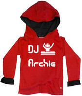 Punk Rock Personalized DJ Baby Toddler Big Kid Hoodie Pullover Jacket