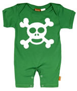 Punk Rock Short Sleeve Baby Romper: Skull N Crossbones