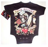 Punk Rock Baby Onesie or Toddler T-Shirt: Skunk Love Stinks