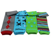 Cool Organic Cotton Boy Style Baby & Toddler Leg Warmers.