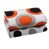 Muslin Blanket: Orange Black & Gray