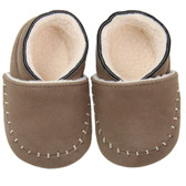Baby Shoes: Brown Moccasins