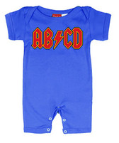 Punk Rock Short Sleeve Baby Romper: AB/CD