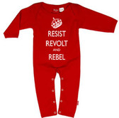 Punk Rock Long Sleeve Romper: Revolt