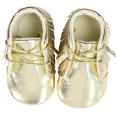 Baby Shoes: Moccasins Gold