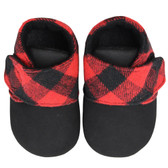 Baby Booties: Red Plaid