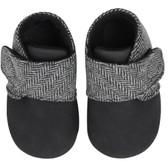 Baby Booties: Gray Tweed