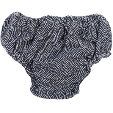 Gray and Navy Tweed Diaper Cover.