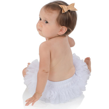 White Ruffle Tutu Diaper Cover.