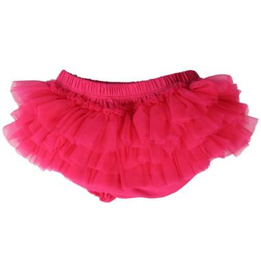Hot Pink Chiffon Ruffles Tutu Diaper Cover.