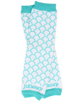 Aqua Scallop Leg Warmers