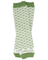 Baby Leg Warmers: Organic Green & White