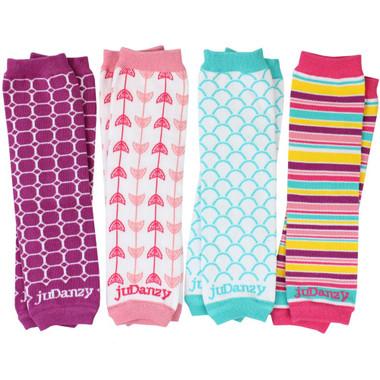 Cool Urban Girl Organic Cotton Baby & Toddler Leg Warmers Gift Set.