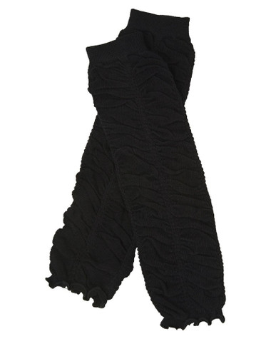 Black Ruffle Ruched Baby & Toddler Leg Warmers.
