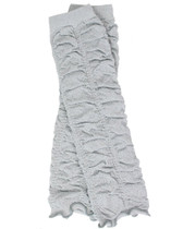 Silver Sparkle Ruched Ruffle Baby & Toddler Leg Warmers.