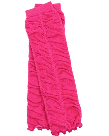 Cool Hot Pink Ruched Ruffle Baby & Toddler Leg Warmers.